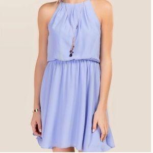 Oxford blue solid lush dress